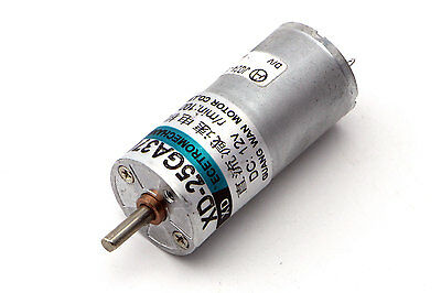DC 12V 100RPM Electric Gear Motor Speed Reduction High Torque w/ Metal Gearbox