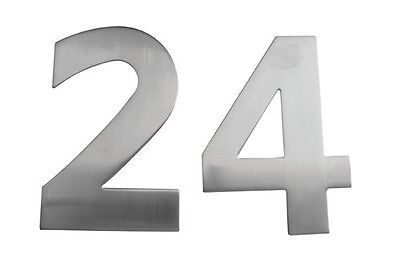 Large Stainless Steel Door Numbers  - 150mm High. Pin fix.