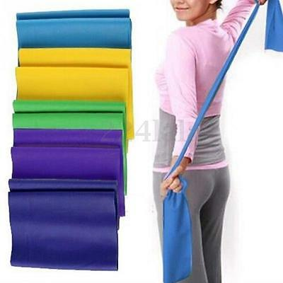 1.5m Elastic Yoga Pilates Rubber Stretch Resistance Exercise Fitness Band Hot