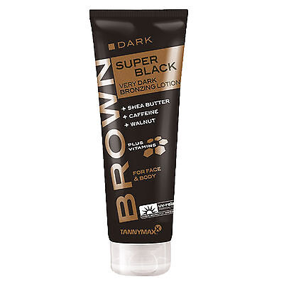 "Tannymaxx Brown ""Super Black Very Dark Bronzing Lotion"" 125 ml Solarium Kosmetik"