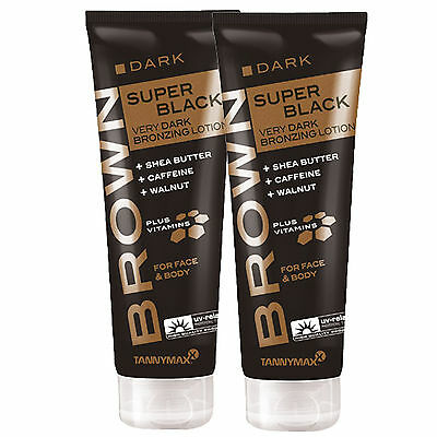 "2x Tannymaxx Brown ""Super Black Very Dark Bronzing Lotion"" je 125 ml"