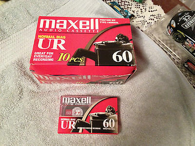 Maxell Normal Bias UR Audio Cassette Tapes  60 Minutes