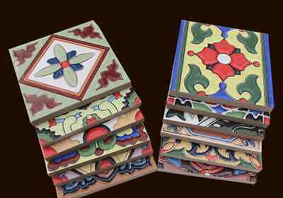"LOTS of Splendid Colored Ceramic Chinese Craft Tiles. 4""x4""x0.3 (100x100x8mm)"