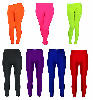 Girls Leggings Shiny Leotard Dance Swimming Stretchy Gymnastics Ballet 3-14 Yrs