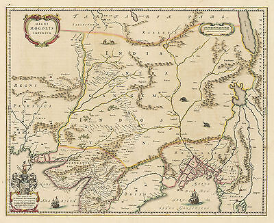 HJB-AntiqueMaps : 1662 Map of Central Asia by Blaeu