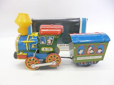 Mechanical Choco Loco Series Zug Blech TIN Wind UpCha Chattanooga Choo Choo A-10