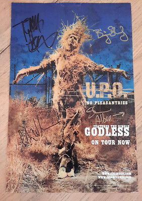 Collectible Signed Poster Ad Music Rock Band U.P.O. No Pleasantries Godless 2000