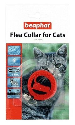 Beaphar Plastic Waterproof Cat Kitten Flea Collar 4 Month Protect 4 Colours 2128