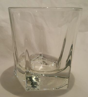 Canadian Club Classic Whiskey Pentagon Shaped Base Heavy Rocks Glass