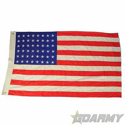 U.S Vintage Style 48 Star Cotton Flag for WW2 Reproduction
