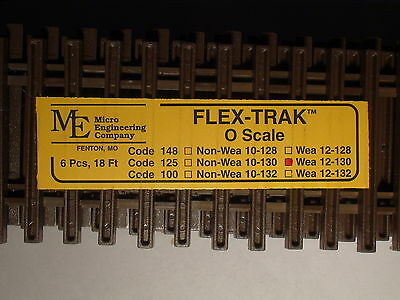 O-Scale Micro-Engineering #12-130 Flex-Track Code 125 Weathered