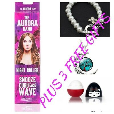 The Aurora Band Sleep In Night Roller,No Heat Roller Plus 3 Free Gifts
