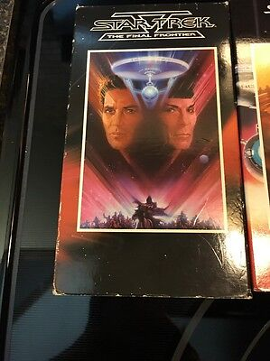 Lot Of 6 Star Trek Movies On VHS 1,2,3,4,5 and 6 . No2 Still Has The Seal