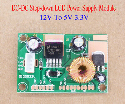 1pcs DC-DC 12V To 5V 3.3V Step-down Power Supply Module LCD power supply Board