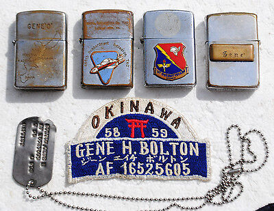 Vintage Air Force Veteran's Lighter Grouping, Vintage Zippo