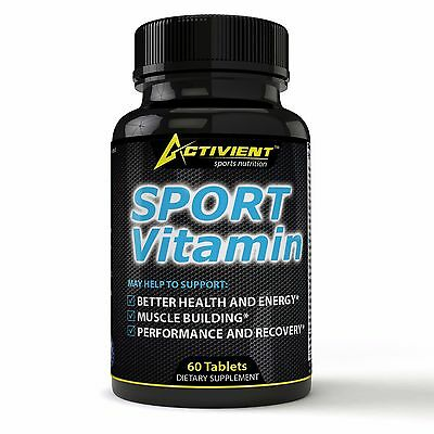 Activient Sports MultiVitamin, Men Multi-Vitamin Formulated For Athletes Muscle
