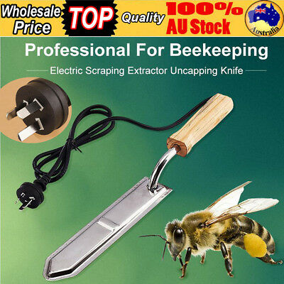 240V Electric Honey Bee Supply Scraping Extractor Uncapping Hot Knife Beekeeping