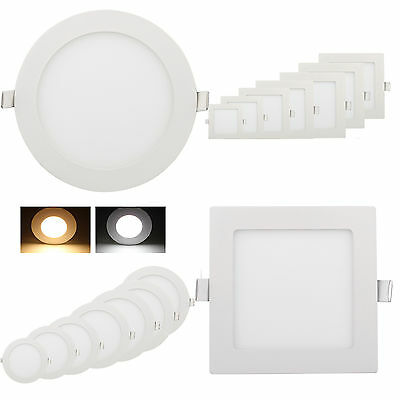 ultraslim panneau panel led encastr plafond lampe lumineux ronde carr 3w 18w eur 3 55. Black Bedroom Furniture Sets. Home Design Ideas