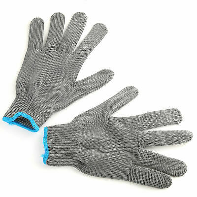 Fishing Fillet Glove Cut Resistant Grey Black Stainless Left/Right Hand Size L