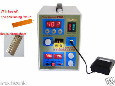 788H LED Dual Pulse Spot Welder Battery Charger 800 A 0.1 - 0.2 mm 36V 60A s