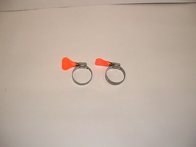 "1.25"" Hose Clamp X 2 POND KOI PIPE. Orange."