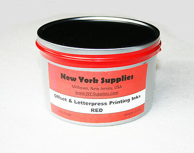 Red Offset & Letterpress Printing Ink - 2.5 lbs
