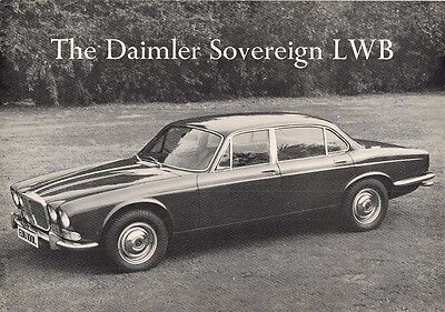 Daimler Sovereign Long Wheelbase Series 1 1972-73 UK Market Leaflet Brochure XJ
