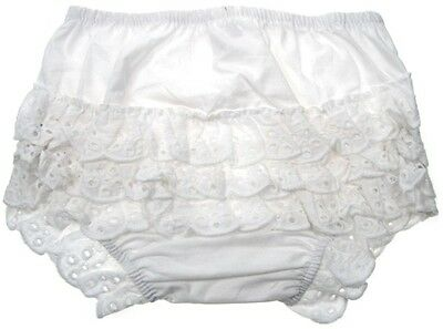 SOFT TOUCH baby girls frilly frill back pants white knickers or pink 0-6 mths
