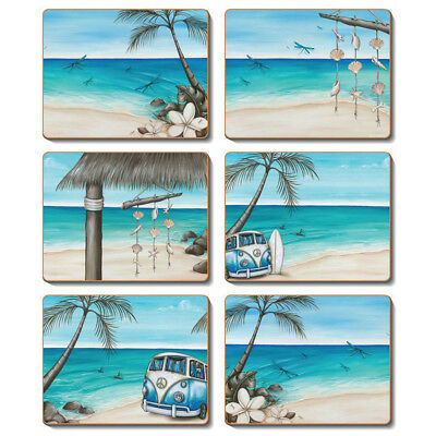 Paddle Bliss - Set of 6 Placemats and Coasters by Lisa Pollock