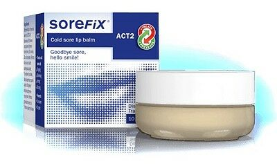 Sorefix Balm 10ml Effective,Invisible Cold Sore Treatment,Relieves Burns,Itch UK