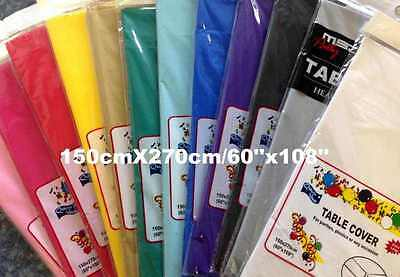 Plastic Table Cloth Party Wedding Rectangle Disposable Table Cover 12 Colours La