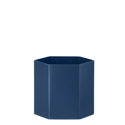 Hexagon Blumentopf Blau L Ferm Living