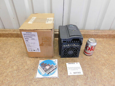 NEW Siemens Micromaster 420 Frequency Inverter AC Drive 2.20 kW, 3 HP, 240 V NEW