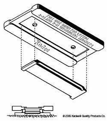 Kadee #334 -Gluing Jig for 312/321/322 Uncouplers for Magnetic Knuckle Couplings