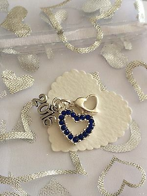 Something Blue Clip On Charm. Wedding. Gift. Bouquet. Bride