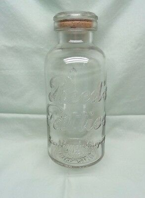 Vintage Antique Rare Large Reed's Patties Candy Store counter jar