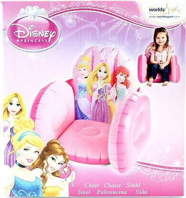 Disney Princess Inflatable Chair Comfy Blow Up Girls Pink Sofa Chair New