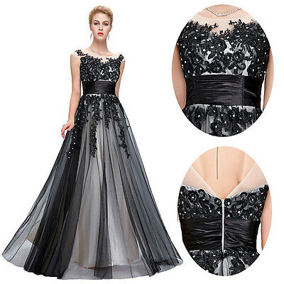 New Women Long Applique Bridesmaid Evening Formal Party Cocktail Dress Prom Gown