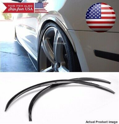 """2 Pairs Flexible 1/"""" Wide Fender Arch Extension Black Carbon Spats For BMW"""
