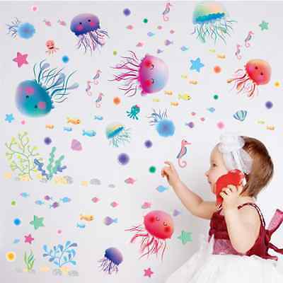 New Jellyfish Removable Bedroom Baby Room Vinyl Wall Sticker Decal Home Decor