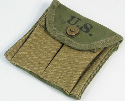 WWII US M1 Carbine Bag Ammunition Buttstock Type Canvas Pouch