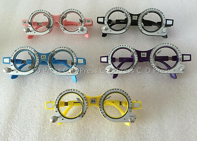 New 5 Pcs Color Optical Lens Trial Frame Eyeglass Optometry