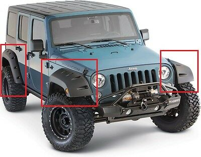 Jeep Wrangler Jk 1992 - 1998 Wheel Arch - Fender Flares Extensions New