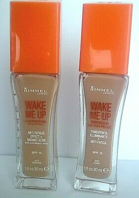 RIMMEL WAKE ME UP FOUNDATION 'ANTI-FATIGUE EFFECT AND RADIANT GLOW' in  5 SHADES