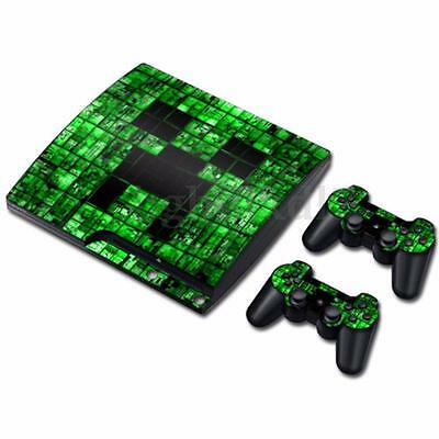 Vinyl Decal Skin Sticker Cover For PS3 PlayStation 3 Slim Console+ 2 Controllers