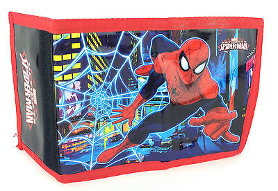 Marvel The Ultimate Spiderman Neon Trifold Money Change  Wallet Official New