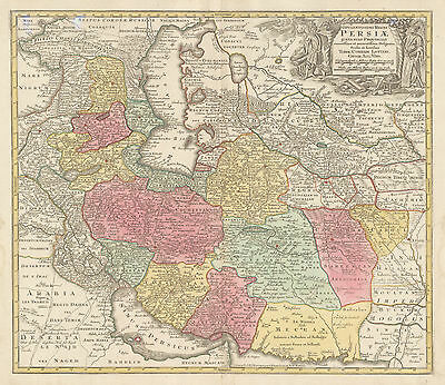 HJB-AntiqueMaps : 1740 Map of the Middle East by Lotter