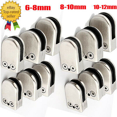 Hot 1Pc/4Pc Stainless Steel Flat Round Holder Glass Clamp Bracket for Balustrade