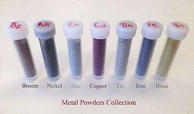 Metal Powders Collection (Set of 7 Different Metals)