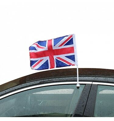 2 x Union Jack Car Window Flags Great Britain United Kingdom FREE UK P&P